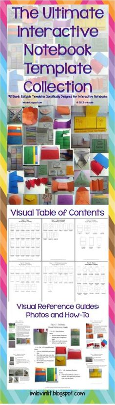 78 blank templates specially designed to work in your interactive notebooks. These templates also work well in lapbooks. YES YOU CAN! You may use these templates in your own TpT products. You will receive these files in 2 formats – a PDF version ready to print and a PowerPoint version ready to edit. by vilma