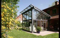 Vinterhave i aluminium og glas