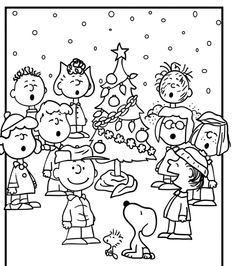 A Charlie Brown Christmas Coloring Pages Peanuts Gang Christmas ...