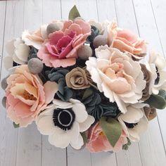 I like the idea of felt flowers... #Feltflowers