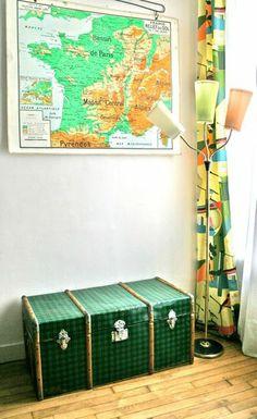 Malle ancienne en provenance du Portugal