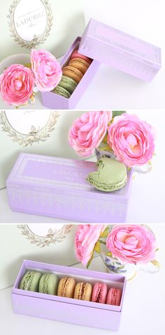LADURÉE #MACARON. Roses and macaroons #packaging PD