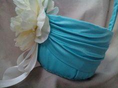 Pool Blue Tiffany Blue Wedding Flower Girl Basket