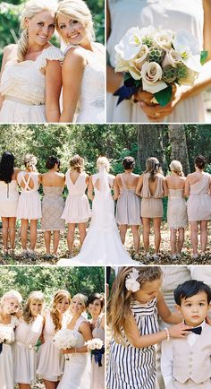 lux events and design » wedding and event photos, champagne bridesmaids dress, neutral bridesmaids,
