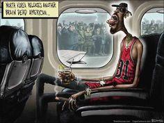 #North Korea, Dennis Rodman, Delonas, #Sean Delonas, SeanDelonas.com, Cartoon, Satire, Humor, Funny,