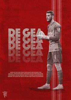 David De Gea Manchester United Poster via Behance