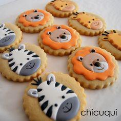 animales de la selva galletas decoradas chicuqui.com