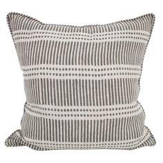 Dash Dot mud linen cushion 55x55cm - Walter G