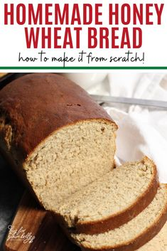 Simple to make, and so delicious! This honey wheat bread is perfect for beginner bread makers, or those wanting a homemade whole wheat bread that is still light and fluffy! #honeywheatbreadrecipe #breadrecipehomemade #honeywheatbreadrecipeeasy #howtomakehoneywheatbread Honey Wheat Bread, Wheat Bread Recipe, Challah Bread Recipes, Quick Bread Recipes, Best Brunch Recipes, Strawberry Bread, Healthy Brunch, Artisan Bread, Other Recipes