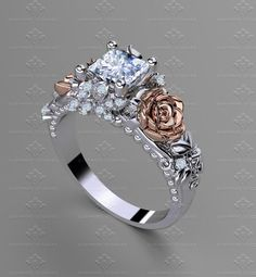 Wedding Rings Solitaire, Antique Engagement Rings, Bridal Rings, Wedding Bands, Wedding Flowers, Perfect Engagement Ring, Rose Gold Engagement Ring, Solitaire Engagement, Ring Verlobung