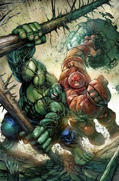 #Hulk #Fan #Art. (Hulk vs Juggernaut! Art) By: Tyler Kirkham, (Color) By: PH Fuller. ÅWESOMENESS!!!™ ÅÅÅ+