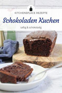 In diesem Beitrag zeige ich Dir mein Rezept für einen richtig saftigen Schokoladenkuchen mit echter Schokolade. Weitere Rezepte auf www.kitchensplace.de. Tiramisu, Baking, Ethnic Recipes, Sweet, Desserts, Foodblogger, Cakes, Food Blogs, Butter