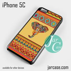 Aztec Elephant (1) Phone case for iPhone 5C and other iPhone devices