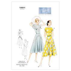Mccall Pattern V8811 Dd (12-14--Vogue Pattern