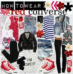 """""""how to wear: red converse 