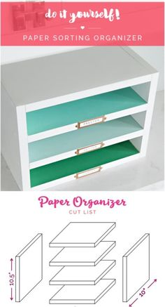 room diy desk Easy DIY Paper Sorter And Organizer Diy Office Desk, Diy Desk, Office Ideas, Office Furniture, Cheap Furniture, Furniture Makeover, Furniture Ideas, Office Paper, Furniture Online