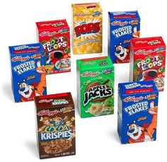 """Loved it when I visited my grandmother & she bought me these multi-packs of tiny cereal boxes. It was the only time I got to eat """"junk cereal. Breakfast Options, Breakfast Recipes, Snack Recipes, Cocoa Krispies, Grocery Deals, Target Coupons, Crunch Cereal, Chicken Meal Prep, Breakfast Cereal"""