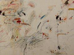 Cy Twombly, Second Voyage to Italy (La caduta di Iperione), olio, pastello a cera e grafite su tela, 1962, 264 x 300 cm.