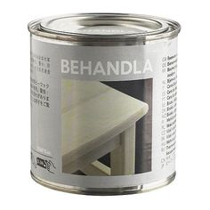 """BEHANDLA Beeswax polish, colorless (""""Makes the surface of untreated wood more durable."""")"""