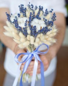 22 Super Ideas For Flowers Boquette Wedding Dried Lavender Bouquet, Dried Flower Bouquet, Lavender Flowers, Fake Flowers, Amazing Flowers, Dried Flowers, Small Wedding Bouquets, Floral Bouquets, Wedding Flowers
