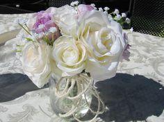 Wedding centerpiece Beautiful  Silk Flower by FlowerIsland on Etsy