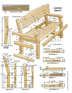 Cedar Garden Bench Free DIY Outdoor Furniture Plans Pinterest