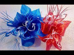 цветы из лент МК / Проклеенная лента / how to make flowers from ribbons DIY - YouTube