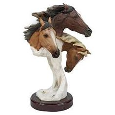 Design Toscano Racing the Wind Wild Horse Statue by Samuel Lightfoot: Large, Multicolor Animal Statues, Animal Sculptures, Wall Sculptures, Lion Sculpture, Bear Statue, Street Gallery, Horse Gifts, Garden Statues, Wild Horses