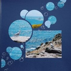 Scrapbook Page Layout - Bubbles