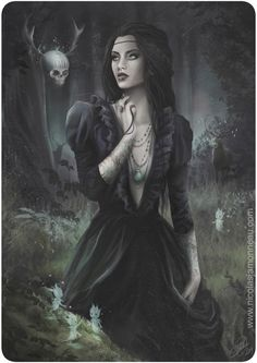 Witch by Nicojam on DeviantArt Dark Gothic Art, Gothic Artwork, Gothic Fantasy Art, Fantasy Girl, Fantasy Artwork, Fantasy Princess, Dark Artwork, Dark Beauty, Gothic Beauty
