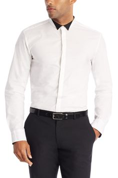 boss slim fit stretch shirt