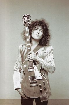 """""""Marc Bolan with his Les Paul. """""""