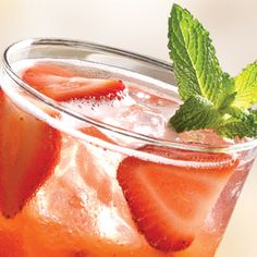 """Strawberry-Mango Limonata  The mixture in a 16 oz cup is about a 1/2"""" strawberry mix, 1/2"""" mango mix, splash of lemonade concentrate finished with sprite. Mix well in a shaker and add some strawberries"""