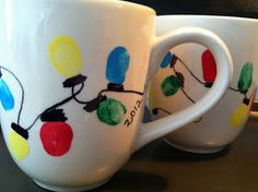 Gifts for grandparents. Make the light bulbs with Petey's fingerprints.