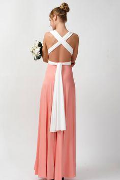 2016 new arrival maxi infinity bridesmaid dress two tone [tt-15] - $73.80 : Infinity Dress | Convertible Dress Bridesmaid Dresses Online, TinnaInfinityDress