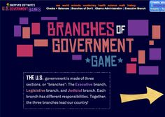Three branches of government free online game from Shepherd Software. http://www.sheppardsoftware.com/usa_game/government/branches_government.htm
