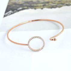 Cercle Diamanté Rose Gold Bangle Bracelet
