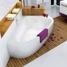 Raumsparbadewanne 195 x 140 cm Schürze Bathtub for 2 persons Space-saving bathtub 195 x 140 cm Apron Floor length 118 cm Content 360 liters Space-saving bathtub 195 x 140 cm Apron made of sanitary acrylic also available with bath apron www.bad-design-he …