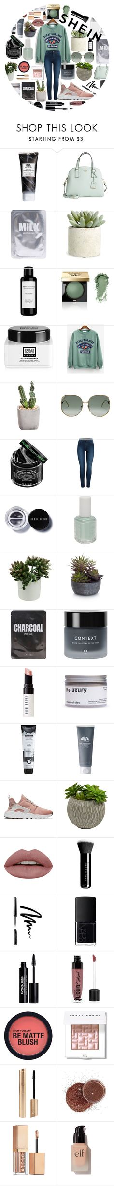 """""""Shein"""" by meinersk45195 ❤ liked on Polyvore featuring Origins, Kate Spade, Lapcos, Allstate Floral, Root Science, Bobbi Brown Cosmetics, Erno Laszlo, Gucci, Peter Thomas Roth and Pieces"""
