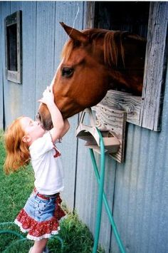 """Every horse deserves to be loved by a little girl once in it's life""."