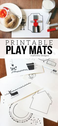 Printable Play Mats, Interactive and Wipeable Placemats for Kids, by @CraftivityD #BetterBreakfast #ad