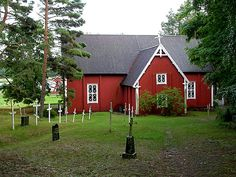 Seili wooden church is located on the island of Seili (Själö), which was built in Finland Grave Monuments, Wooden Houses, Graveyards, My Land, Scandinavian Home, Archipelago, Castles, Buildings, Landscapes