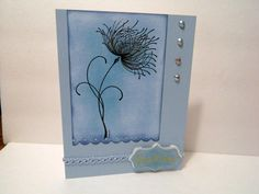 Blue Best Wishes greeting card with stamp by michgirl74ca on Etsy, $4.00