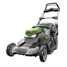 EGO 20 in. 56 Volt Lithium ion Cordless Battery Walk Behind Push Mower - Ah Battery/Charger - The Home Depot Gas Lawn Mower, Lawn Mower Battery, Riding Lawn Mowers, Home Depot, Cordless Lawn Mower, Self Propelled Mower, Walk Behind Lawn Mower, Sons