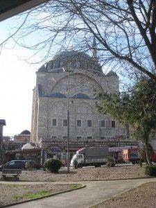 Mihrimah mosque from outside, in an unassuming part  of Istanbul called Edirnekapı.