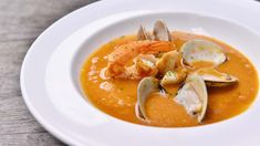 sopa de mariscos Food Network Recipes, Thai Red Curry, Food And Drink, Veggies, Ethnic Recipes, Breads, Amp, Foods, Drinks