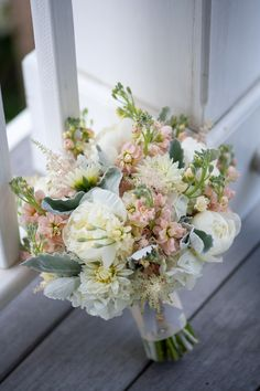 Pale Pink White and Green Bouquet