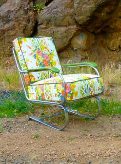 Lloyd Loom Chrome Art Deco Rocker