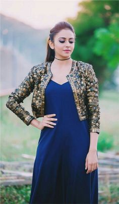 Rakul Preet Singh sexy pics in a blue dress for an event xxx xxx Indian Fashion Dresses, Indian Gowns Dresses, Indian Designer Outfits, Pakistani Dresses, Indian Outfits, Stylish Dress Designs, Designs For Dresses, Stylish Dresses, Casual Dresses