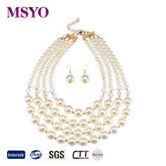 MSYO brand Europe and America pearl jewelry set new design brazilian gold jewelry set